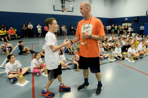 Head Start Basketball Director Mike Klinzing hosts his camp in Strongsville.
